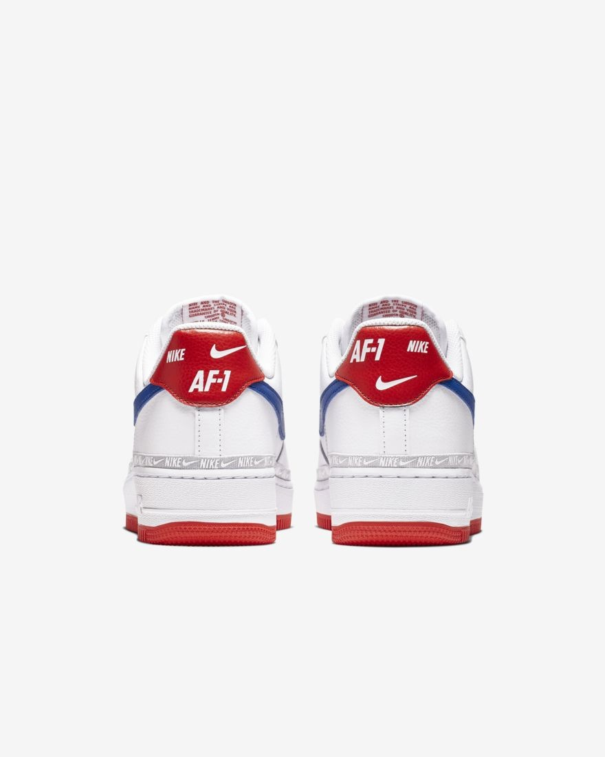 nike air force 1 low lv8 bianco rosso uomo