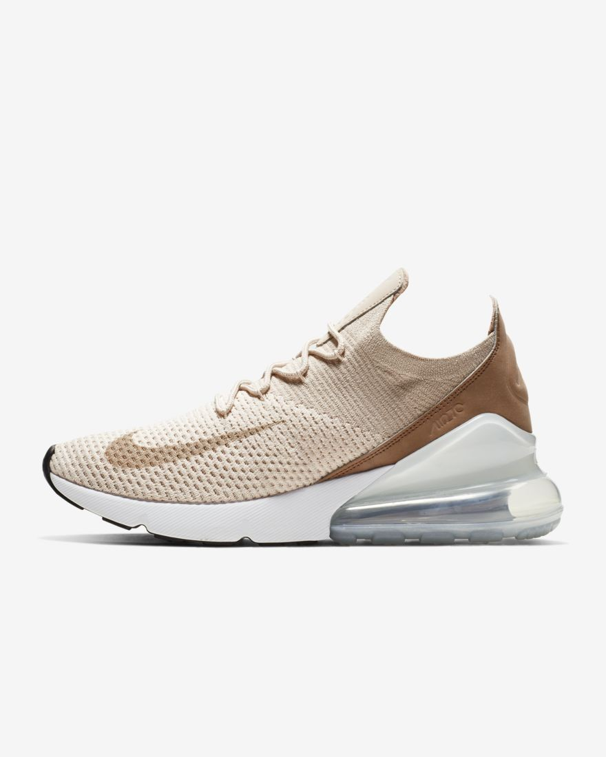 Scarpe Sportive Nike Air Max 270 Flyknit Donna Guava IceDesert DustBiancoParticella Beige AH6803 801