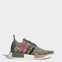 Donna Adidas Originals NMD_R1 Primeknit Scarpe Major, Notte Verde, Rosa Shock BY9864