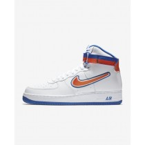 Nike Air Force 1 NBA High (New York Knicks) Uomo Scarpe da corsa AV3938-100 Bianco/Blu/Squadra Arancione