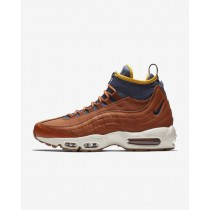 Uomo Scarpe da corsa Nike Air Max 95 Dark Russet/Light Bone/Giallo Ochre/Thunder Blu