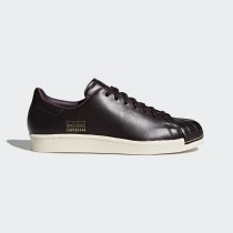 Marrone/Noble Rosso/Urban Trail Adidas Originals Superstar 80s Clean Donna Scarpe CQ2170