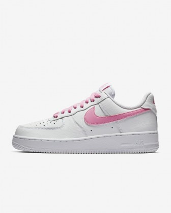 Donna Nike Air Force 1 '07 Essential Bianco/Rosa Psichico Scarpe da corsa BV1980-100