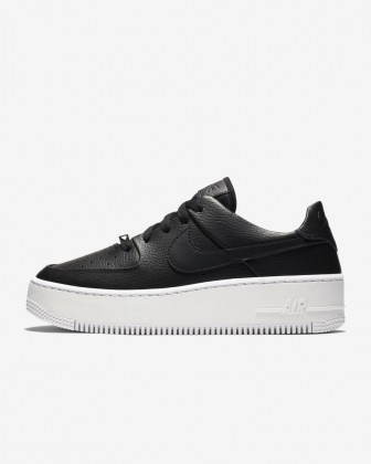 Donna Nero Bianco Scarpe da corsa Nike Air Force 1 Sage Low AR5339-002