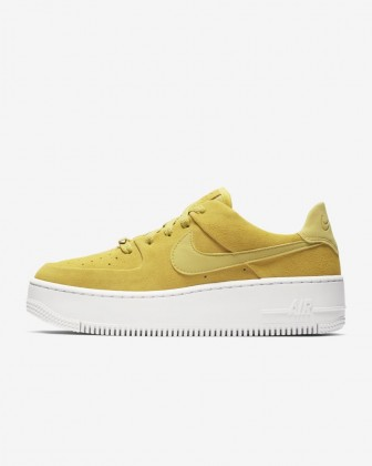 Donna Scarpe Nike Air Force 1 Sage Low AR5339-300 Celery, Bianco