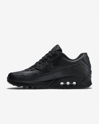 Nike Air Max 90 Leather 302519-001 Nero/Nero Uomo Scarpe