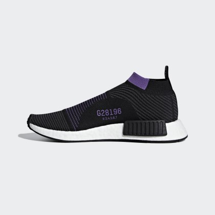 Adidas Donna Originals NMD_CS1 Primeknit Core Nero/Carbonio/Active Porpora Scarpe G28196