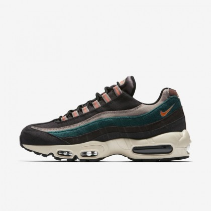 Uomo Scarpe Nike Air Max 95 Premium Oil Grigio/Grigio Tuono/Rainforest/Bright Mango 538416-018