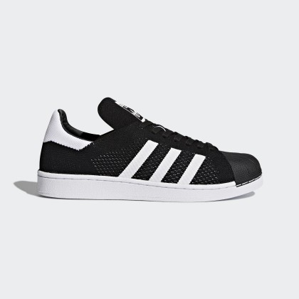 Adidas Donna, Uomo Originals Superstar Primeknit Scarpe da corsa Core Nero/Ftwr Bianco BY8706