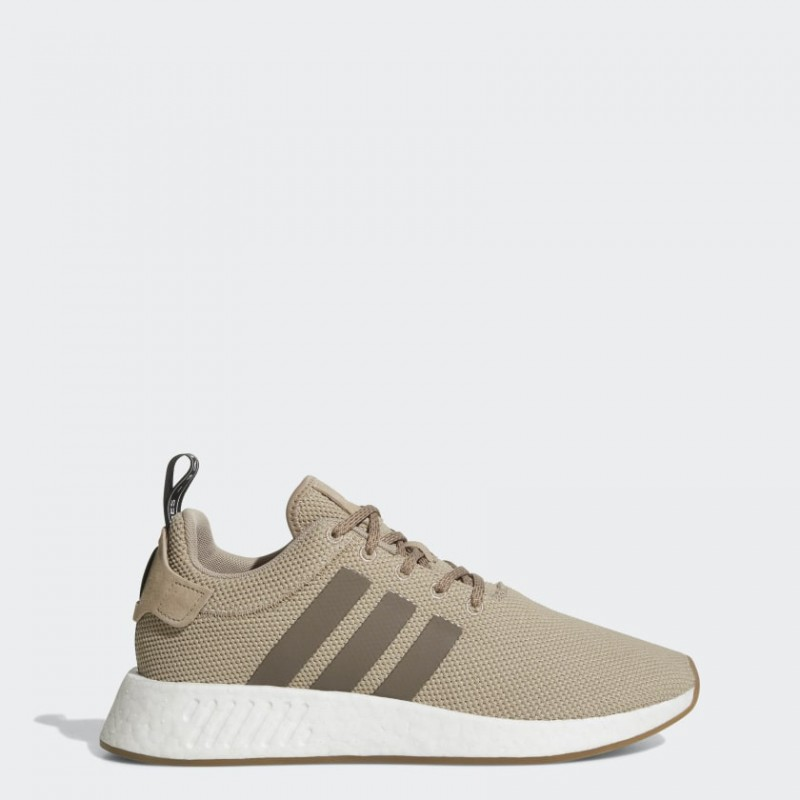Adidas Originals NMD_R2 Uomo Scarpe Beige, Traccia Khaki, Simple Marrone, Core Nero BY9916