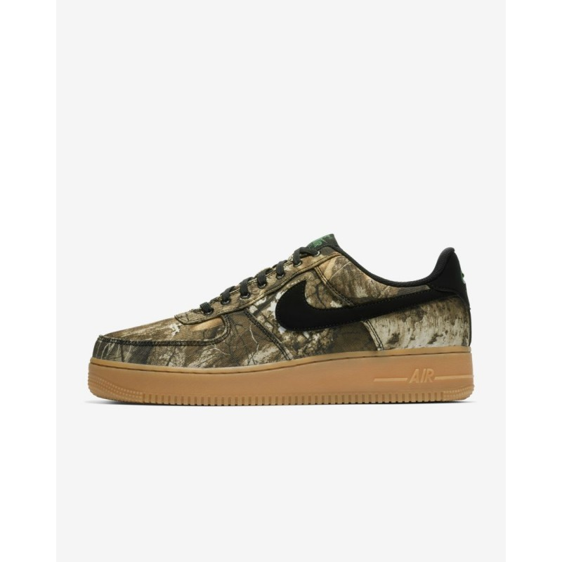 Nike Air Force 1 '07 LV8 3 Realtree® Uomo Scarpe AO2441-001 Nero, Aloe Verde, Gomma Marrone Medio