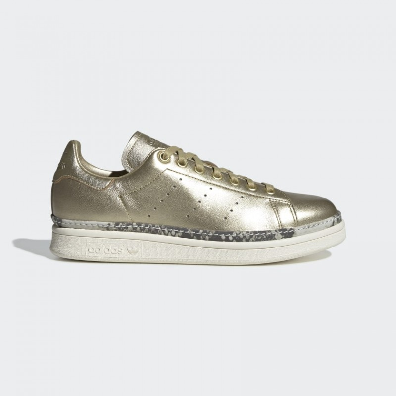 Donna Adidas Originals Stan Smith New Bold Scarpe Oro Met./Off Bianco F34120